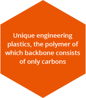 Carbon polymer backbone is composed of all unique engineering plastics
